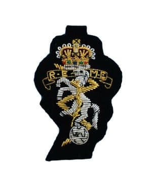 REME Royal Electrical Mechanical Engineers Officers Embroidered Cap Badge